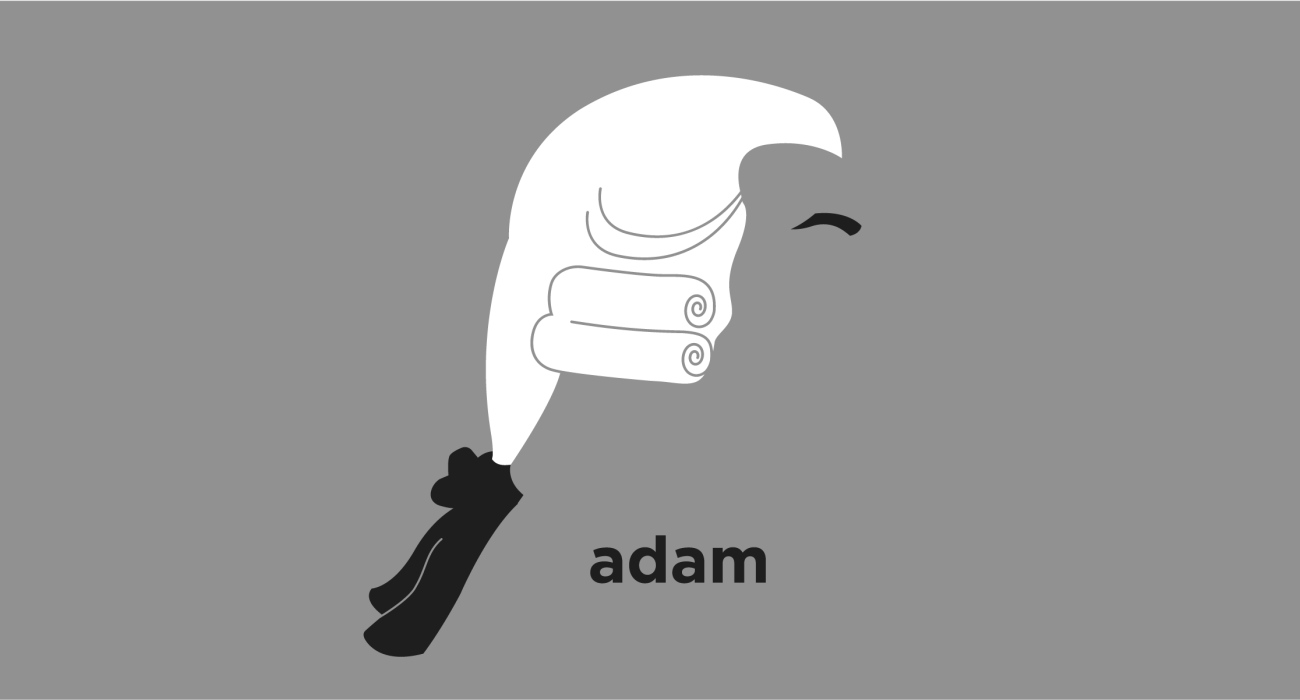 A t-shirt with a minimalist hair based illustration of Adam Smith: a pioneer of political economy and a key figure during the Scottish Enlightenment, best known for his book The Wealth of Nations, which is considered the first modern work of economics.