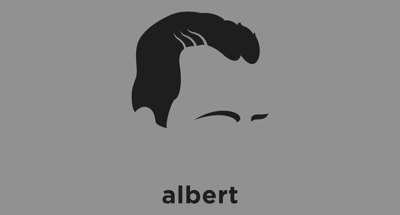 A t-shirt with a minimalist hair based illustration of  Albert Camus: French Nobel Prize winning author, journalist, and philosopher, whose views contributed to the rise of the philosophy of absurdism