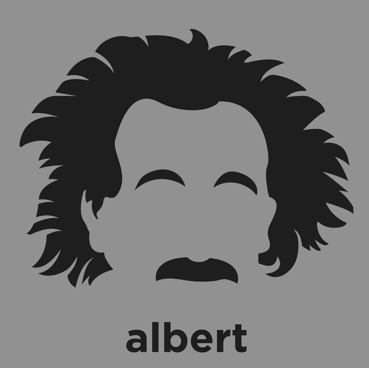 Albert einstein shirt from hirsute history for Minimalist architecture theory