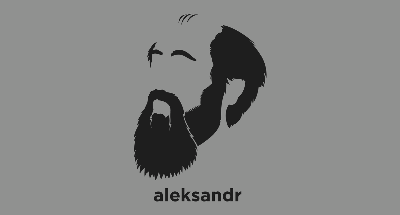 A t-shirt with a minimalist hair based illustration of Aleksandr Solzhenitsyn: Russian novelist, and tireless critic of Communist totalitarianism who helped to raise global awareness of the gulag and the Soviet Union's forced labor camps