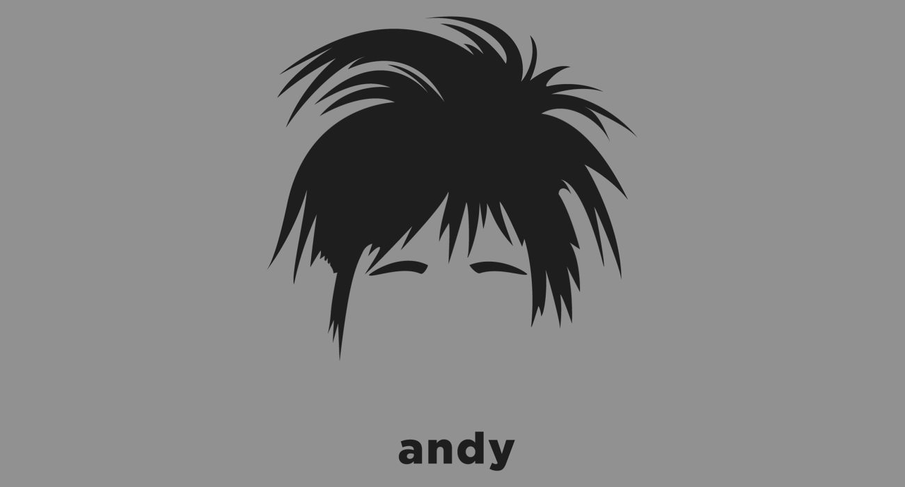 A t-shirt with a minimalist hair based illustration of  Andy Warhol: leading figure in the visual art movement known as pop art. His works explore the relationship between artistic expression, celebrity culture and advertisement