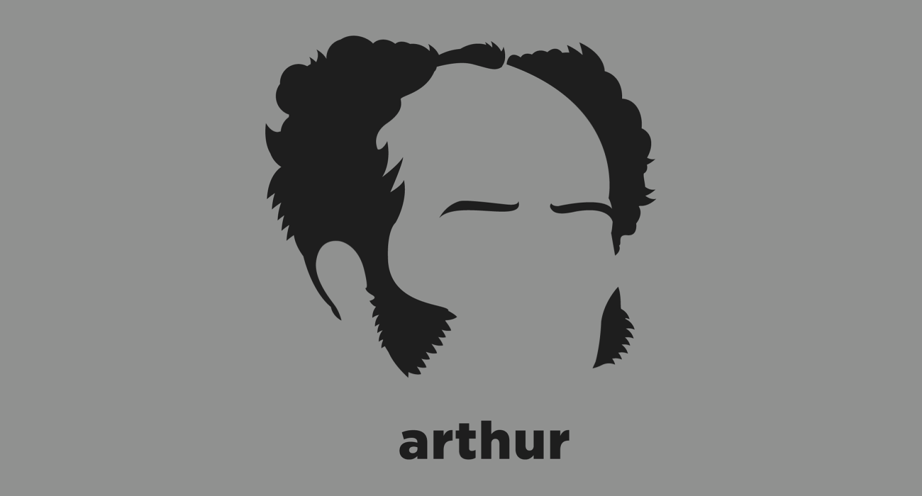 A t-shirt with a minimalist hair based illustration of  Arthur Schopenhauer: philosopher best known for his book, The World as Will and Representation, which argued the world is driven by a continually dissatisfied will, continually seeking satisfaction