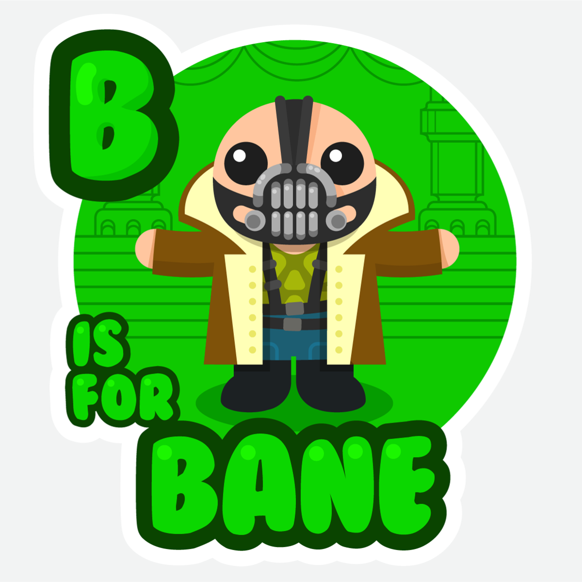 B is for bane shirt from abcs of evil an kids abc book style illustration for an adorable lil masked mercenary who was born buycottarizona Images