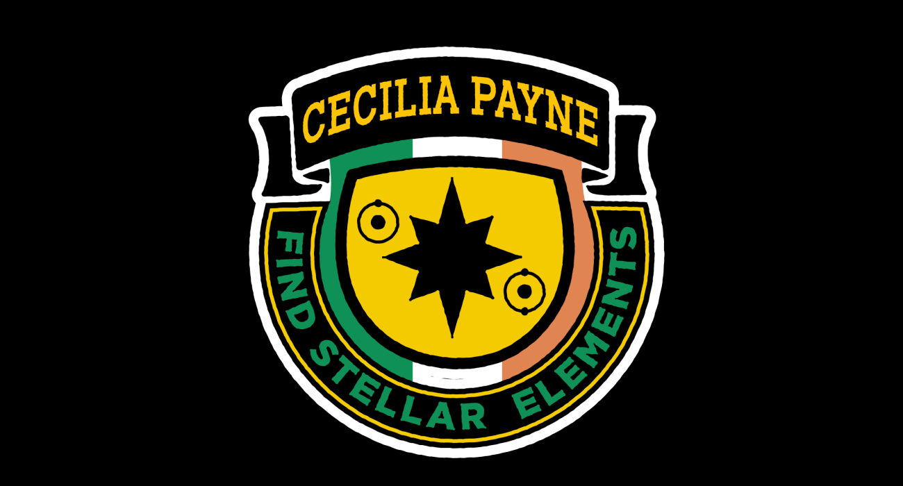 A fake band t-shirt for  Cecilia Payne: Astronomer and astrophysicist who, in 1925, discovered the composition of stars in terms of the relative abundances of hydrogen and helium.