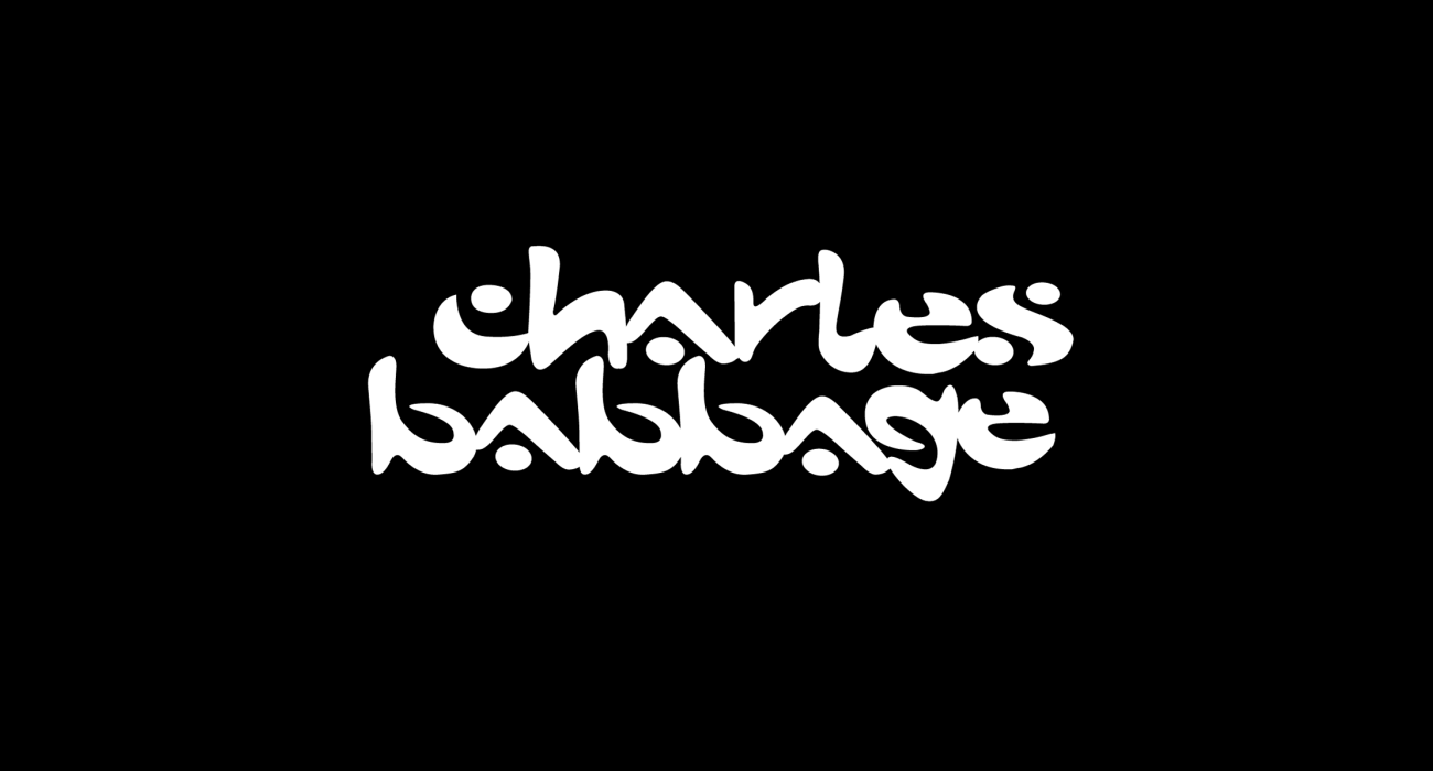 A fake band t-shirt for  Charles Babbage: was a mathematician, philosopher, inventor and mechanical engineer, best remembered now for originating the concept of a programmable computer