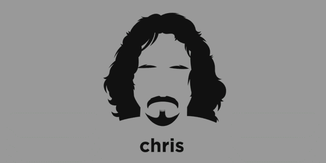 A t-shirt with a minimalist hair based illustration of  Chris Cornell: Musician, singer and songwriter of the bands Soundgarden, Audioslave, and Temple of the Dog. Known for being one of the architects of the 1990s grunge movement, his near four octave vocal range, as well as his powerful vocal belting technique.