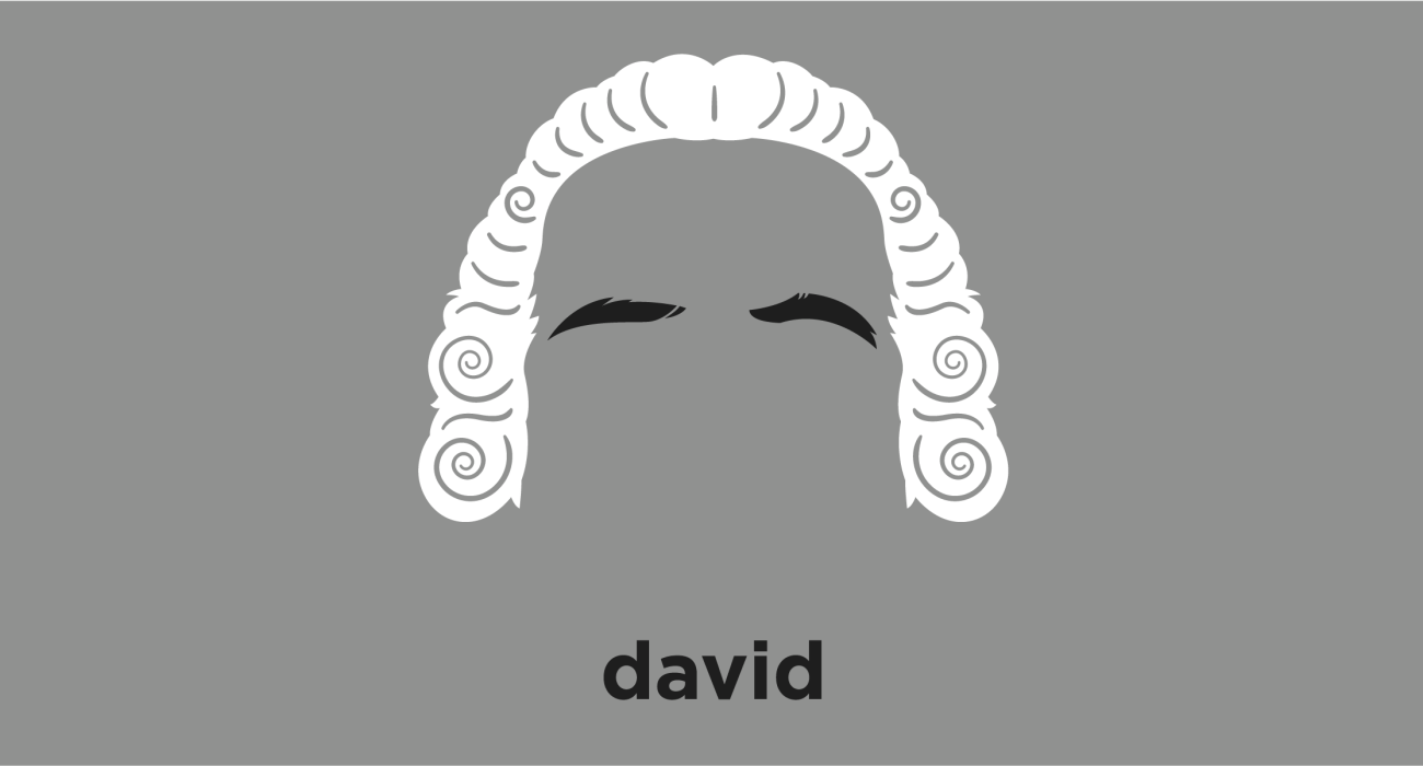 A t-shirt with a minimalist hair based illustration of David Hume: Enlightenment philosopher who is best known for his highly influential system of philosophical empiricism, with which Hume strove to create a total naturalistic science of man that examined the psychological basis of human nature.