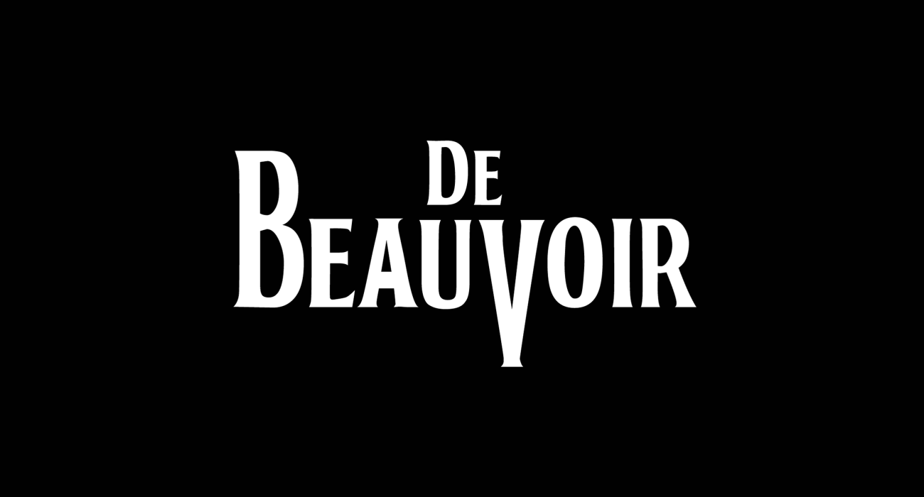 A fake band t-shirt for  Simone de Beauvoir: French writer, intellectual, existentialist philosopher, political activist, feminist, known for her book The Second Sex