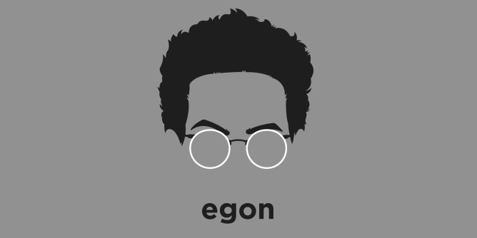 A t-shirt with a minimalist hair based illustration of  Egon Spengler: Paranormal researcher, specializing in ghost trapping and removal, Also a prolific collector of molds, spores, and fungus.