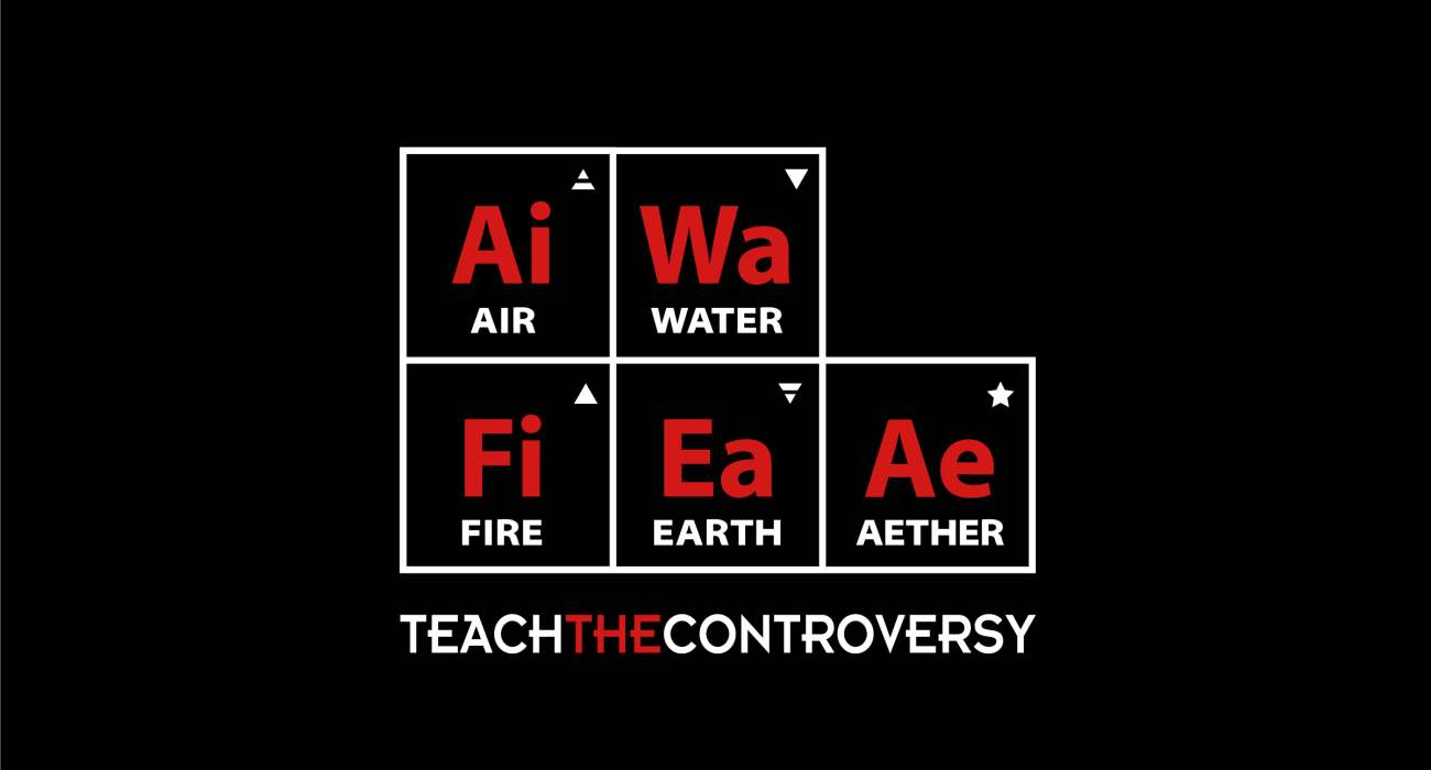 A religious parody t-shirt:  Most frequently, classical elements refer to ancient beliefs inspired by natural observation of the phases of matter; with earth as solid, water as liquid, air as gas, and fire as plasma