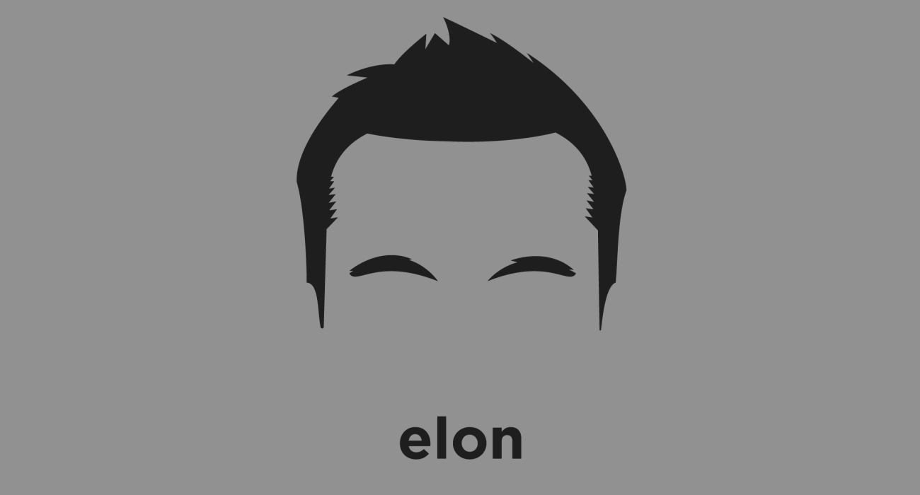 A t-shirt with a minimalist hair based illustration of Elon Musk: business magnate, engineer, and inventor known for companies such as Paypal, SpaceX, and Tesla Motors which revolve around his vision to change the world and humanity with technology.