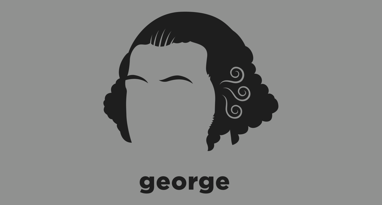 A t-shirt with a minimalist hair based illustration of George Washington: the first President of the US, the commander-in-chief of the Continental Army during the Revolutionary War, and one of the key Founding Fathers
