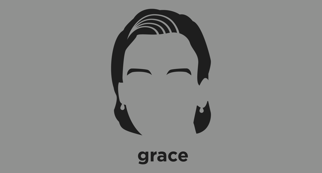 A t-shirt with a minimalist hair based illustration of Grace Hopper: Pioneering computer scientist and United States Navy Rear Admiral, mother of COBOL (arguably the first modern programming languages)