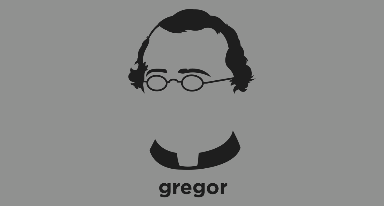 A t-shirt with a minimalist hair based illustration of  Gregor Mendel: scientist and Augustinian friar who gained posthumous fame as the founder of the new science of genetic after demonstrating mendelian genetic inheritance