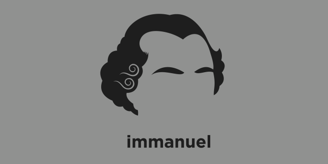 A t-shirt with a minimalist hair based illustration of  Immanuel Kant was a German philosopher who is considered the central figure of modern philosophy. His beliefs continue to have a major influence on contemporary philosophy, especially the fields of metaphysics, epistemology, ethics, political theory, and aesthetics.