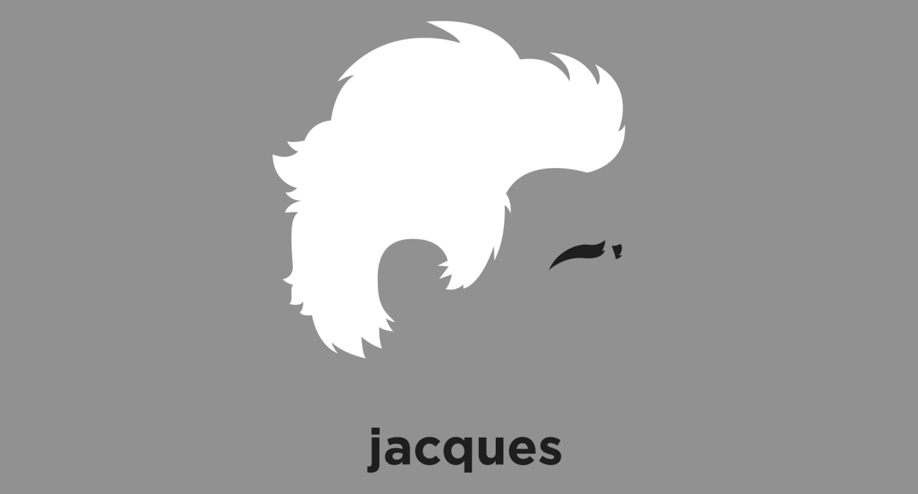 A t-shirt with a minimalist hair based illustration of Jacques Derrida: a major figure of post-structuralism and postmodern philosophy, best known for developing a form of semiotic analysis known as deconstruction.