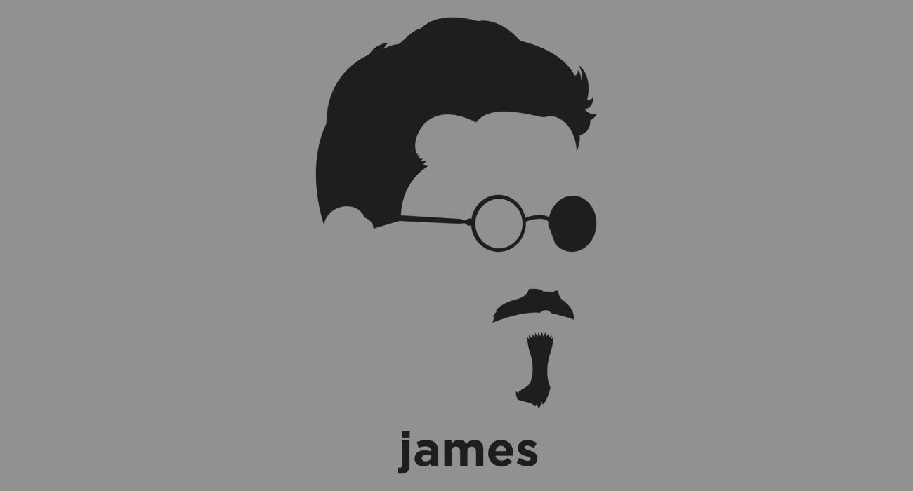 A t-shirt with a minimalist hair based illustration of  James Joyce: Irish novelist and poet, best known for Ulysses, considered to be one of the most influential writers in the modernist avant-garde of the early 20th century