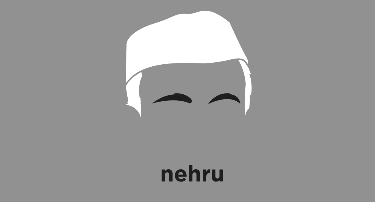 A t-shirt with a minimalist hair based illustration of  Jawaharlal Nehru: The first Prime Minister of India and a central figure in Indian politics before independence under the tutelage of Mahatma Gandhi and after independence until his death in 1964.