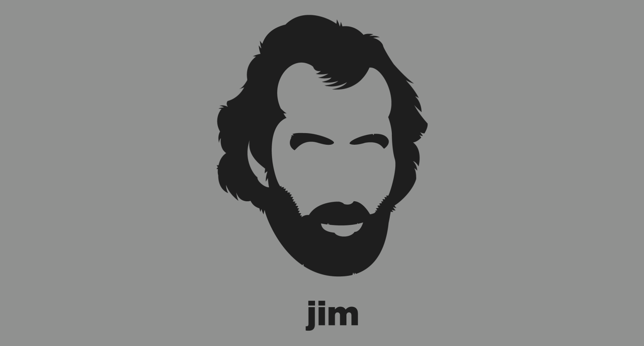 A t-shirt with a minimalist hair based illustration of  Jim Henson: puppeteer, screenwriter, film director, best known as the creator of The Muppets, and the puppets of Sesame Street