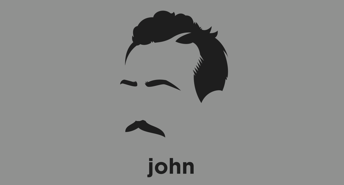 A t-shirt with a minimalist hair based illustration of John Steinbeck: Nobel Prize winning author of 27 books, including Of Mice and Men and The Grapes of Wrath, considered Steinbeck's masterpiece and part of the American literary canon.