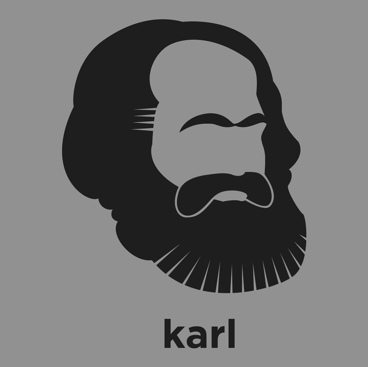 Karl Marx shirt from Hirsute History