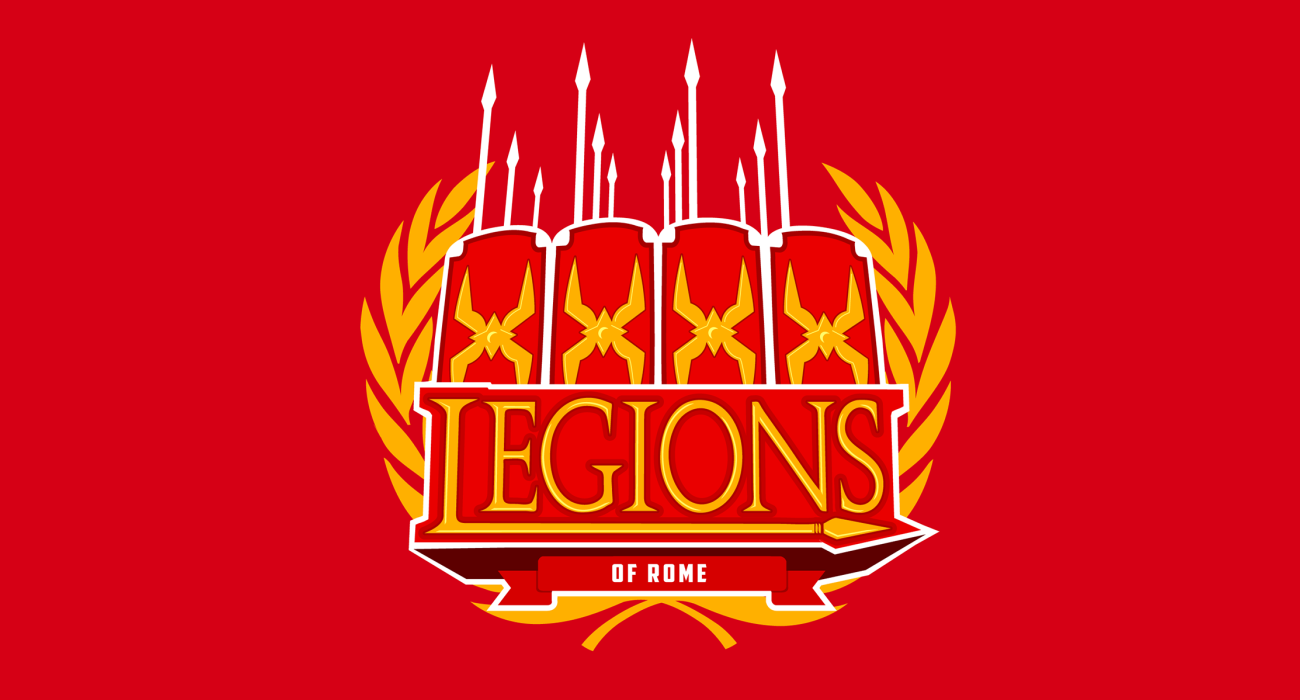 A fake team logo t-shirt featuring  The mighty Roman Legions, decked out with Spears and Scutums ready to take on that rascally Hannibal with as many Punic Wars as it takes to get the jobs done!
