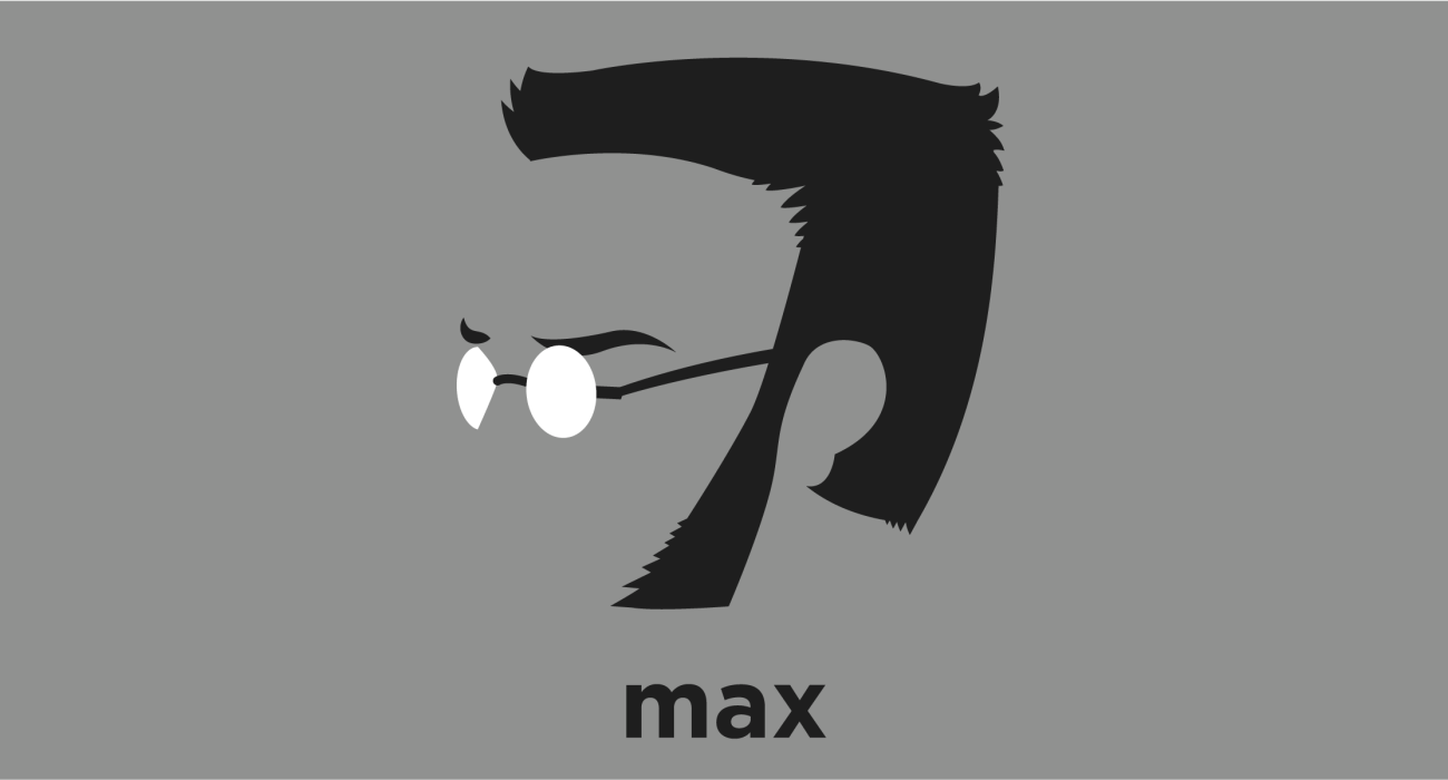 A t-shirt with a minimalist hair based illustration of Max Stirner: German philosopher who is often seen as one of the forerunners of nihilism, existentialism, psychoanalytic theory, postmodernism and individualist anarchism.