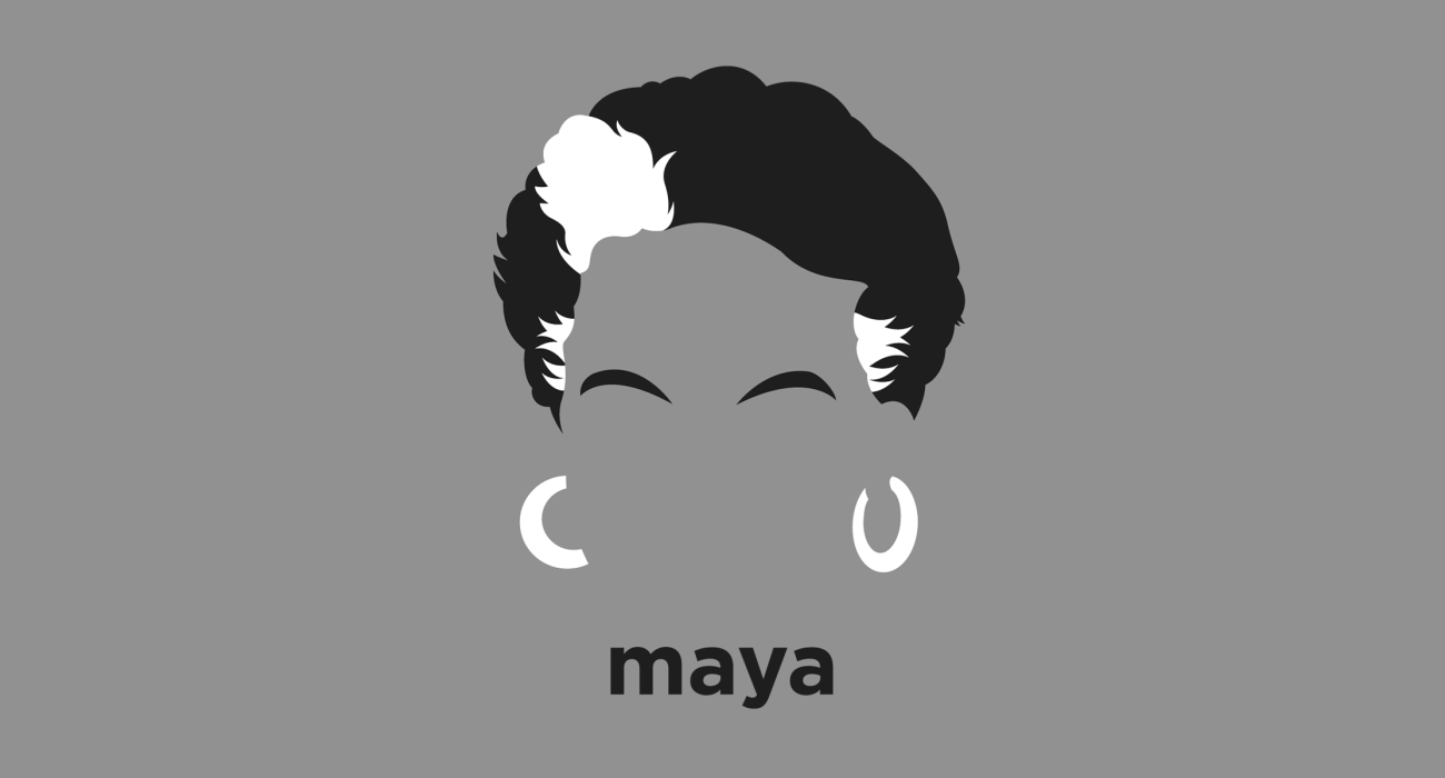 A t-shirt with a minimalist hair based illustration of Maya Angelou: American poet, memoirist, and civil rights activist, the recipient of dozens of awards and more than 50 honorary degrees. Angelou is best known for her autobiography I Know Why the Caged Bird Sings, which brought her international recognition and acclaim.