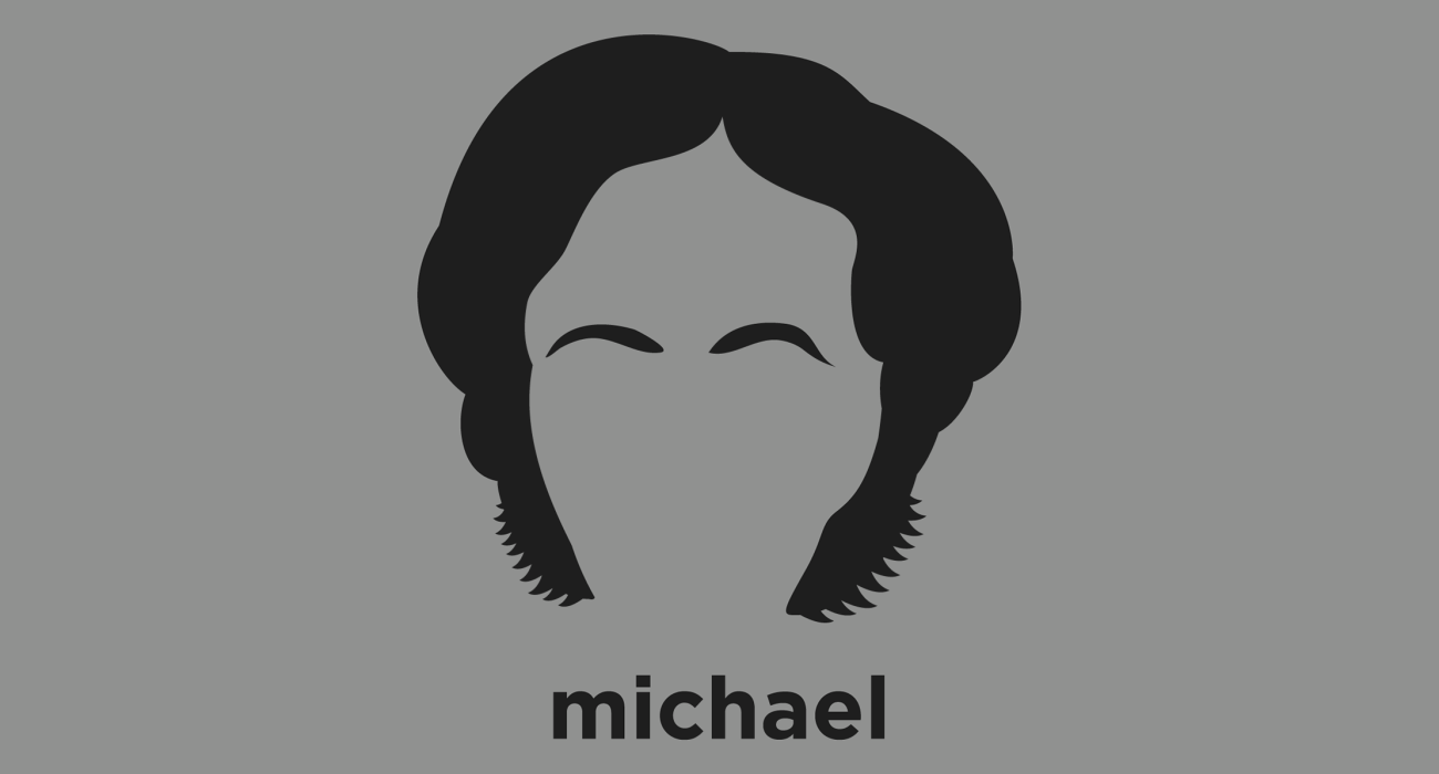 A t-shirt with a minimalist hair based illustration of  Michael Faraday: English scientist whose research on magnetic fields established the basis for the concept of the electromagnetic field in physics