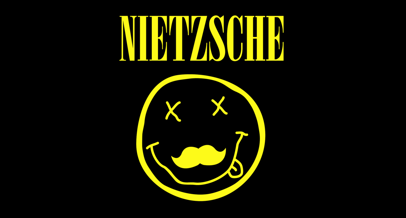 A fake band t-shirt for  Friedrich Nietzsche: German existentialist philosopher whos radical questioning of the value and objectivity of truth remained substantially influential
