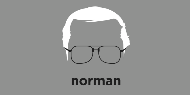 A t-shirt with a minimalist hair based illustration of  Norman Borlaug was an American biologist and humanitarian who led initiatives worldwide dubbed the Green Revolution that has been credited with saving over a billion people worldwide from starvation.