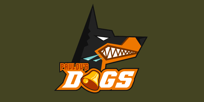 A fake team logo t-shirt featuring  A most ferocious dog fiercely salivating up a storm at the sound of a bell, just like Ivan Pavlov experiments conditioned them to do. Good boy