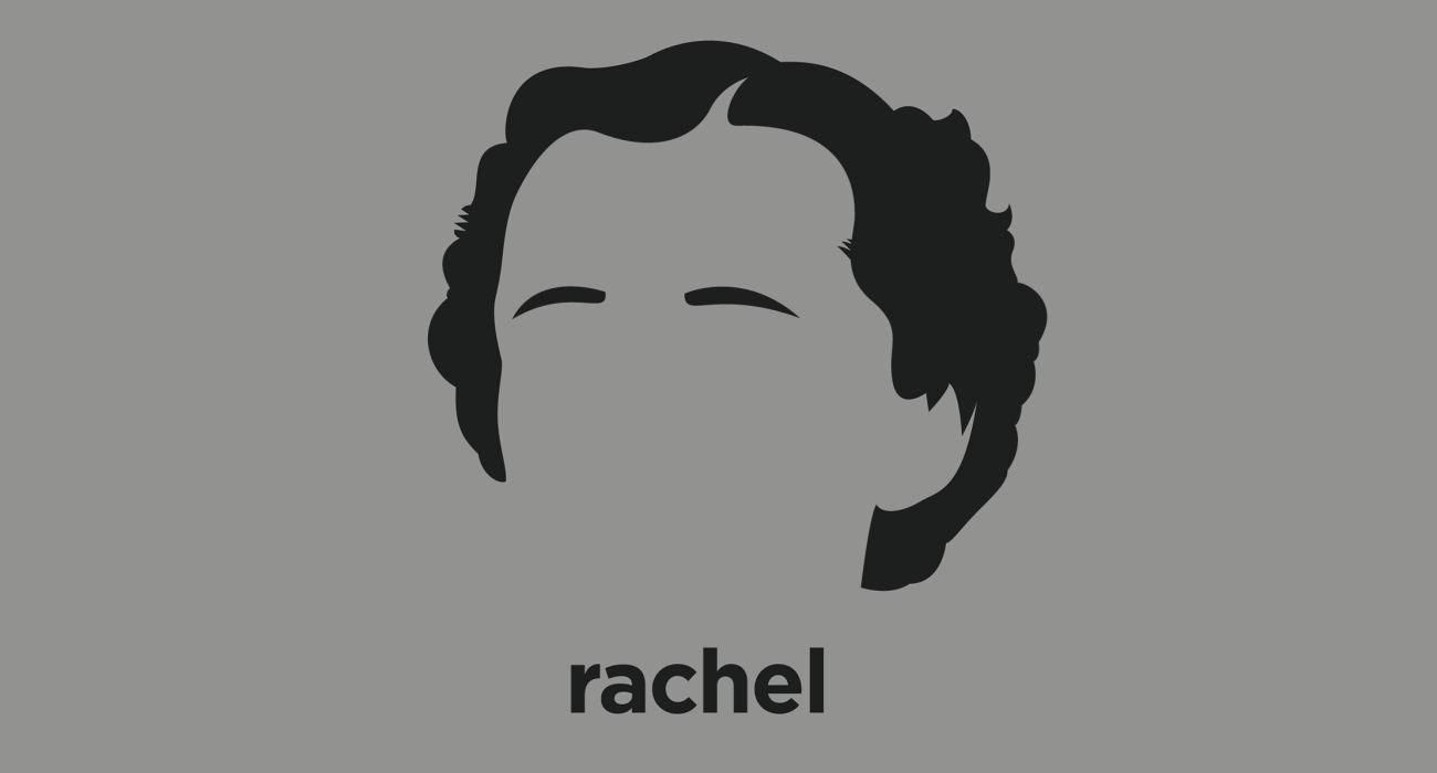 A t-shirt with a minimalist hair based illustration of Rachel Carson: marine biologist and conservationist whose book Silent Spring and other writings are credited with advancing the global environmental movement