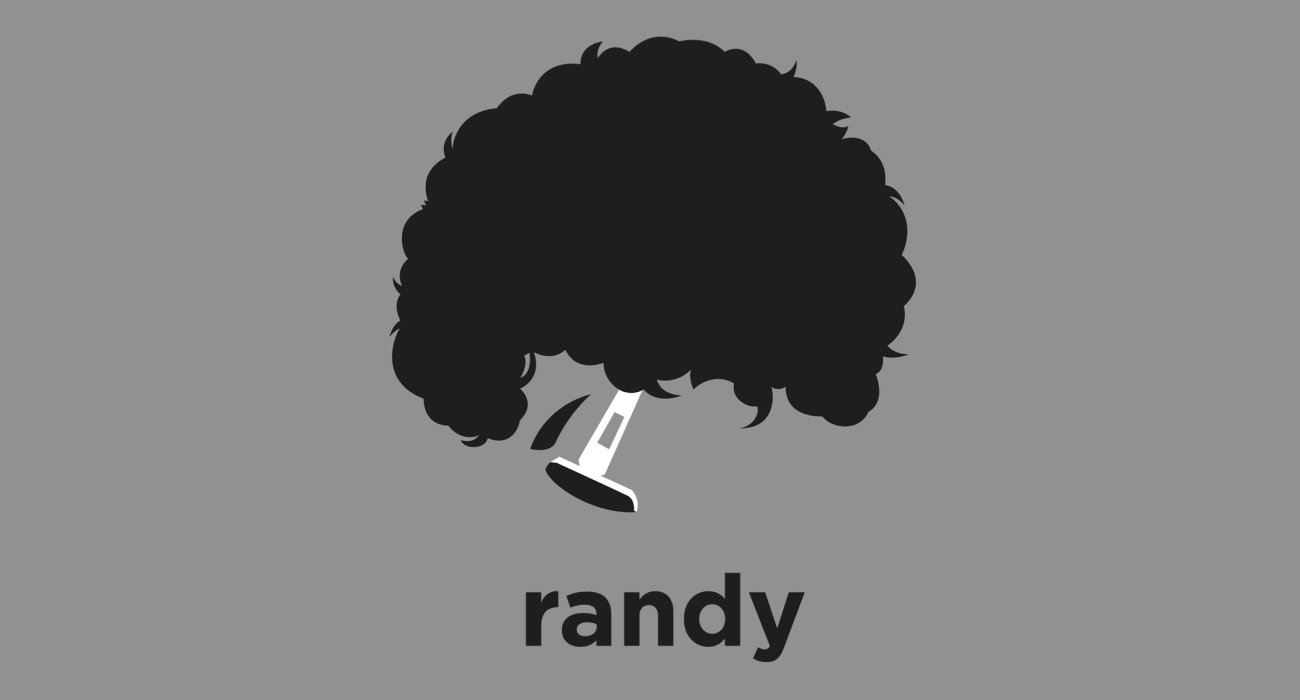 A t-shirt with a minimalist hair based illustration of Randy Newman: an American singer-songwriter, composer, and pianist who is known for his distinctive voice, mordant (and often satirical) pop songs, and for film scores.