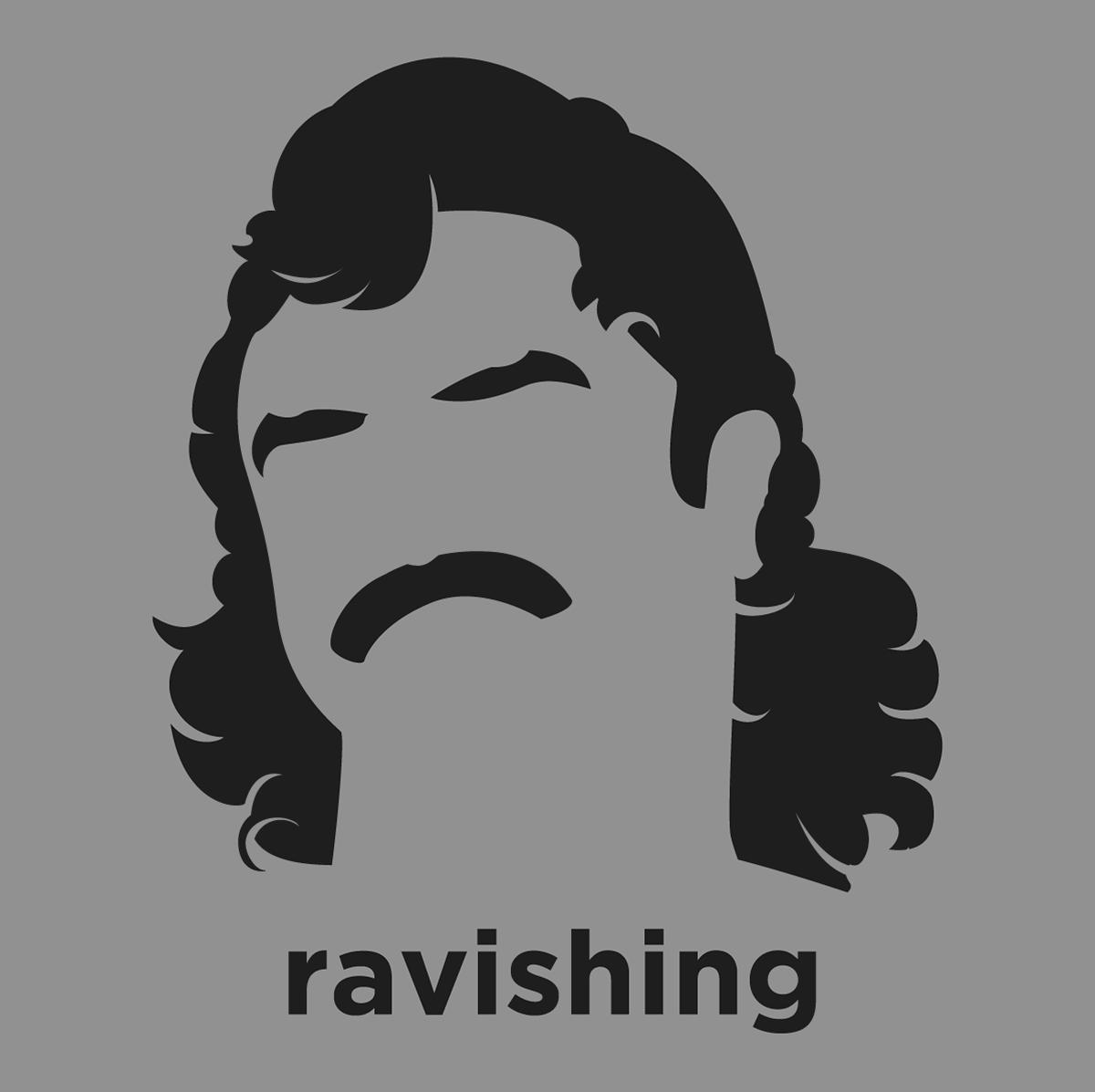 b9beac481bd0 A t-shirt with a minimalist hair based illustration of Ravishing Rick Rude   professional