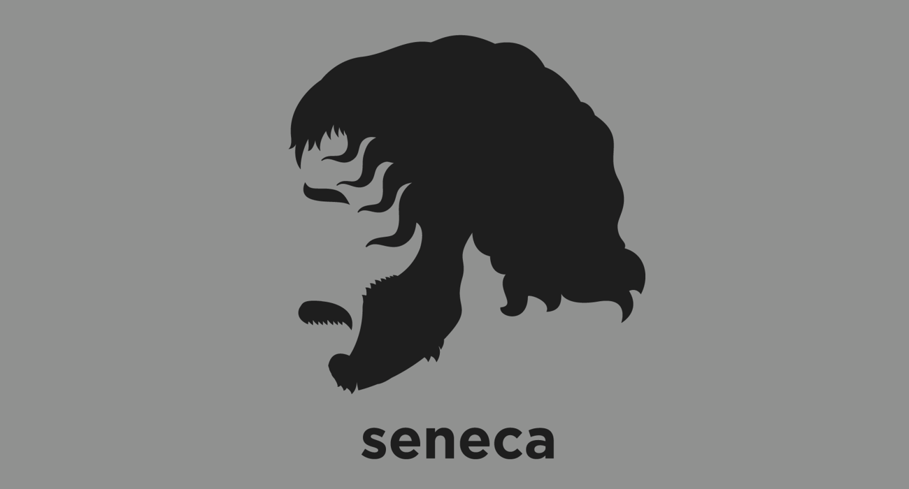 A t-shirt with a minimalist hair based illustration of Seneca the Younger: a Roman Stoic philosopher, statesman, dramatist, and humorist of the Silver Age of Latin literature. Advisor to emperor Nero, and some regard as the first great Western thinker on the complex nature and role of gratitude in human relationships