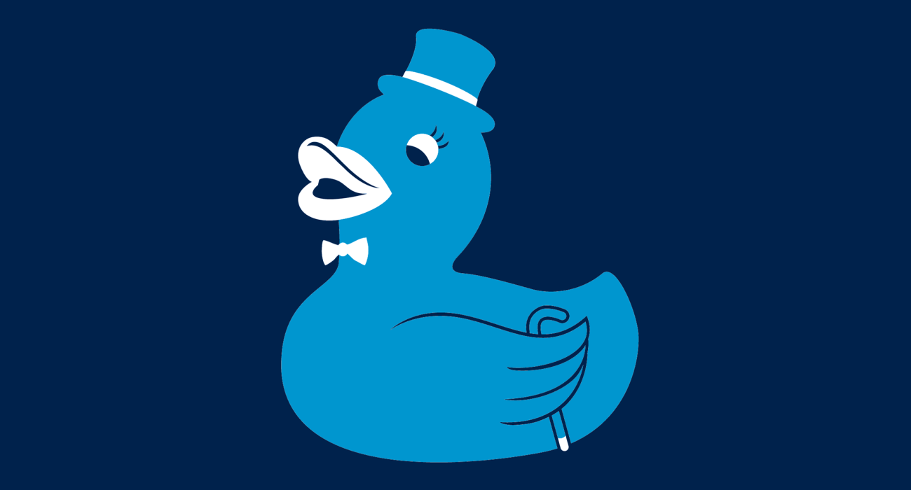 A fancy pants duckie, dressed to the nines and ready for a night out on the town