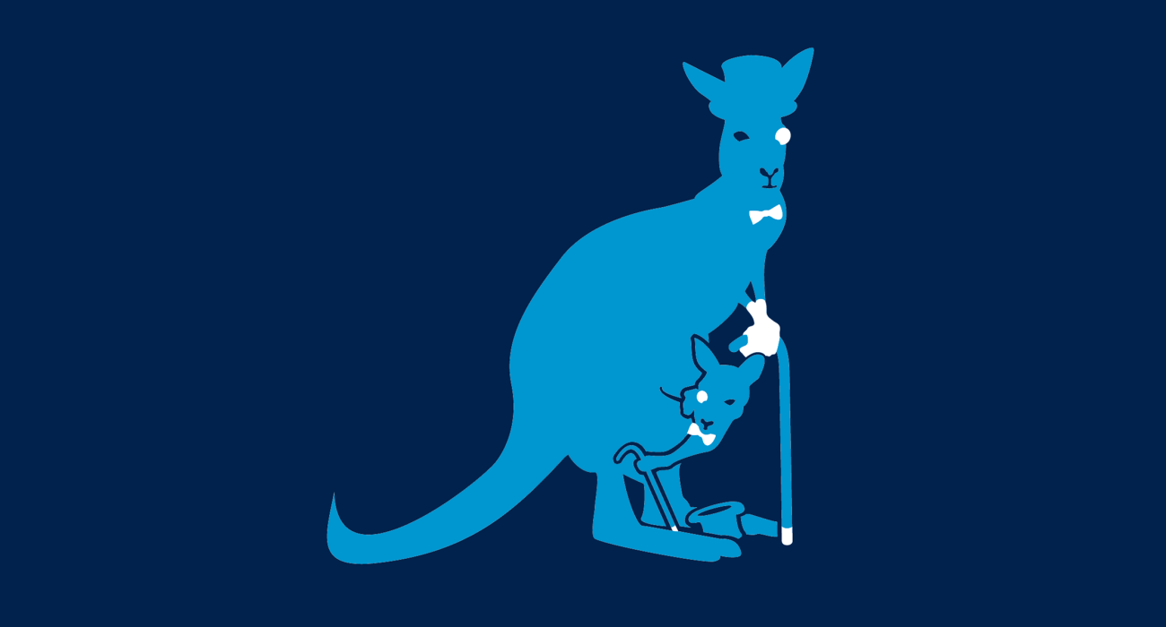 Fancy within fancy on this recursively dapper marsupial