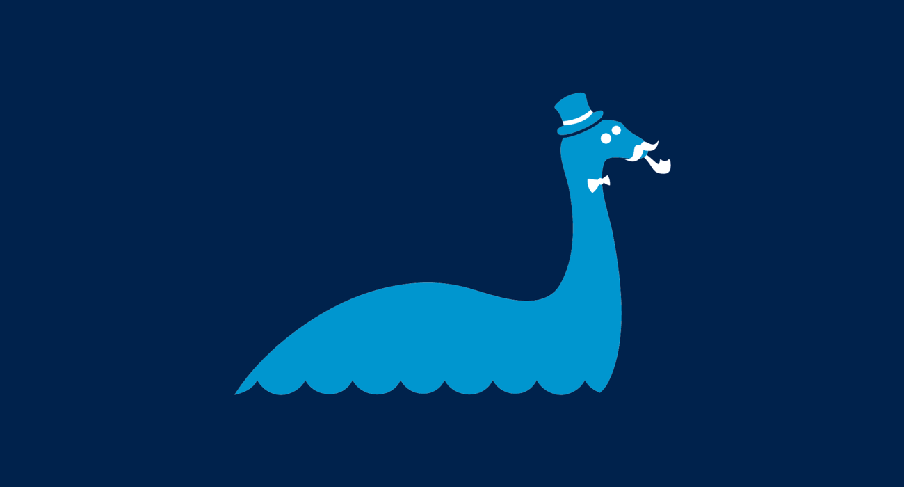 A fancy pants nessie, dressed to the nines and ready for a night out on the town
