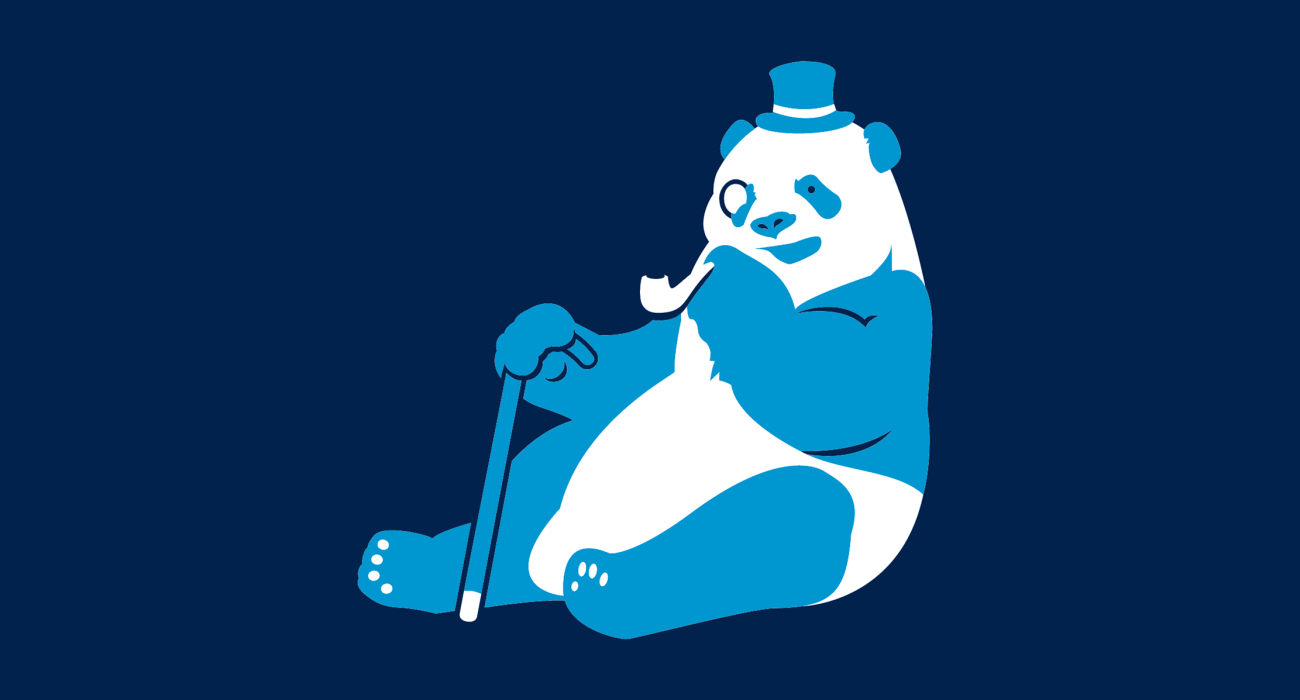 A fancy pants panda, dressed to the nines and ready for a night out on the town