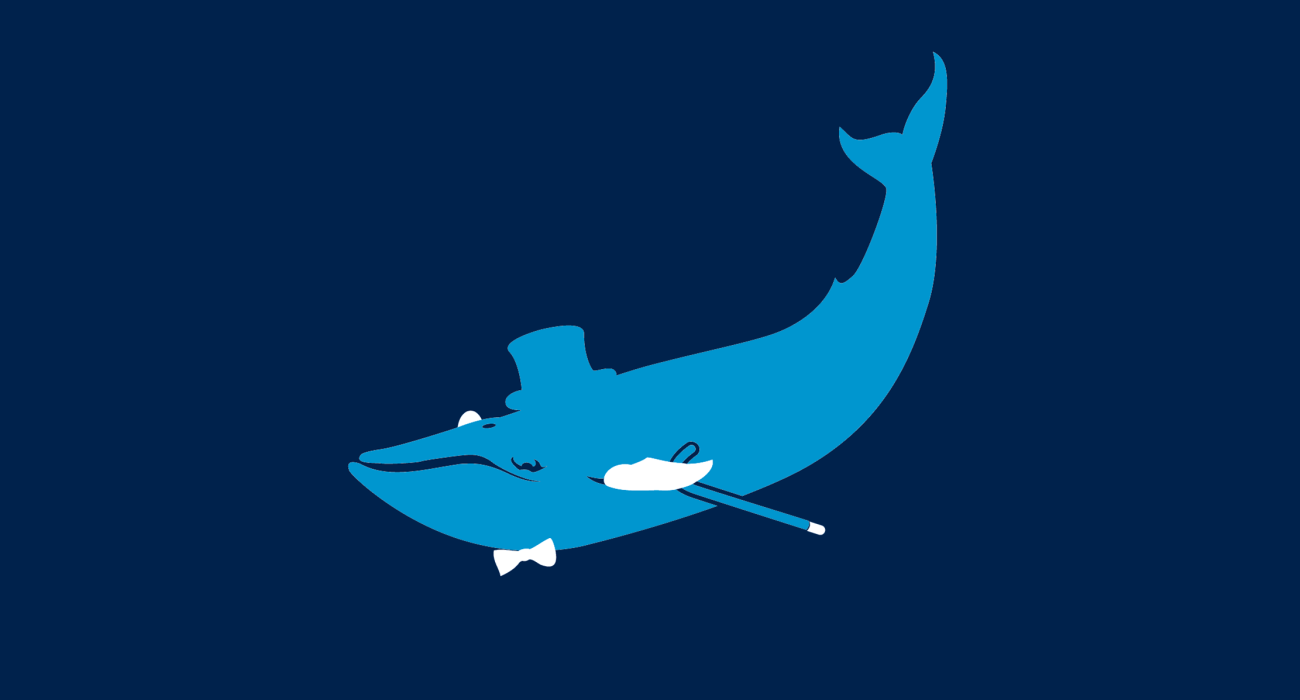 A fancy pants whale, dressed to the nines and ready for a night out on the town