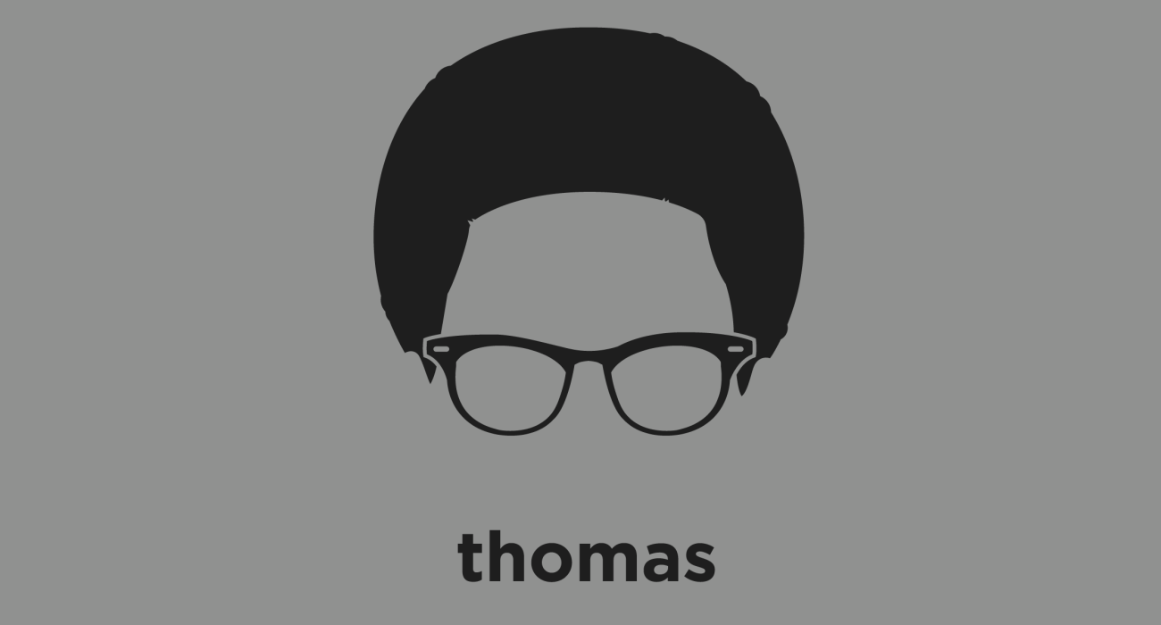 A t-shirt with a minimalist hair based illustration of Thomas Sowell: Economist, turned social theorist, conservative political philosopher, and author who is considered one of the leading voices of the Chicago School or economics.