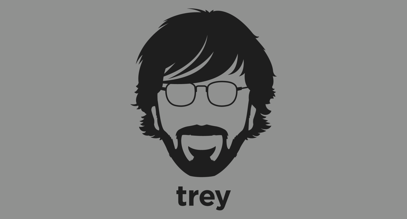 A t-shirt with a minimalist hair based illustration of Trey Anastasio: guitarist, composer, and vocalist noted for his work with the rock band Phish, and his solo career, including the Trey Anastasio Band