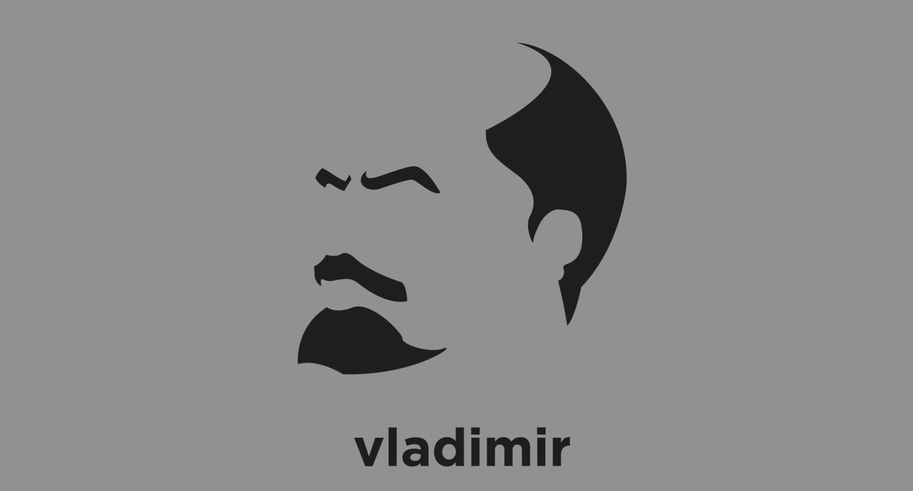 A t-shirt with a minimalist hair based illustration of Vladimir Lenin: Russian communist revolutionary, politician and political theorist. He served as the leader of the Russian SFSR, and then as Premier of the Soviet Union
