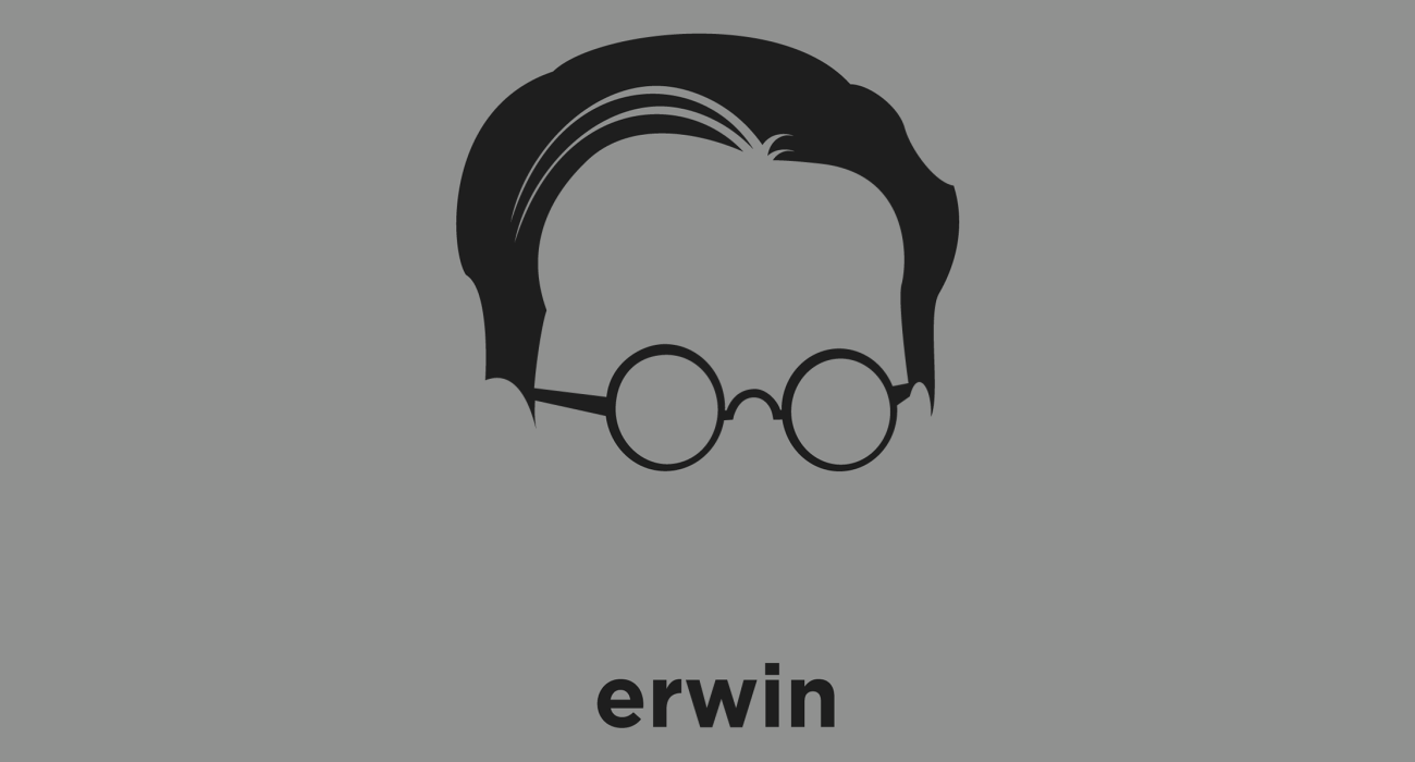 Erwin Schrodinger: physicist who developed a number of fundamental results in the field of quantum theory, which formed the basis of wave mechanics. Noted cat lover