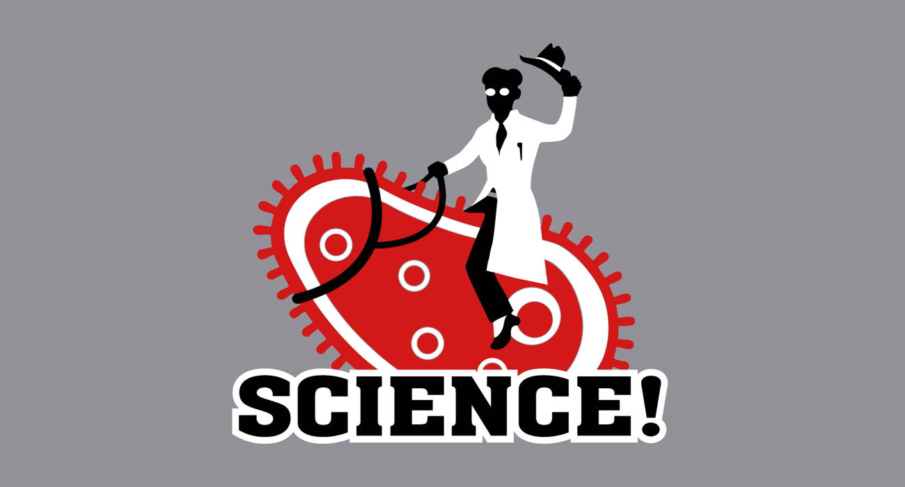 A wily paramecium getting rode by a fine young lass from the research lab