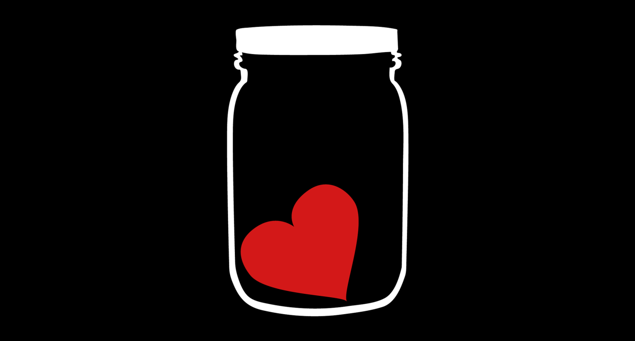 A heart in a jar I'll leave the underlying message up to you to decide