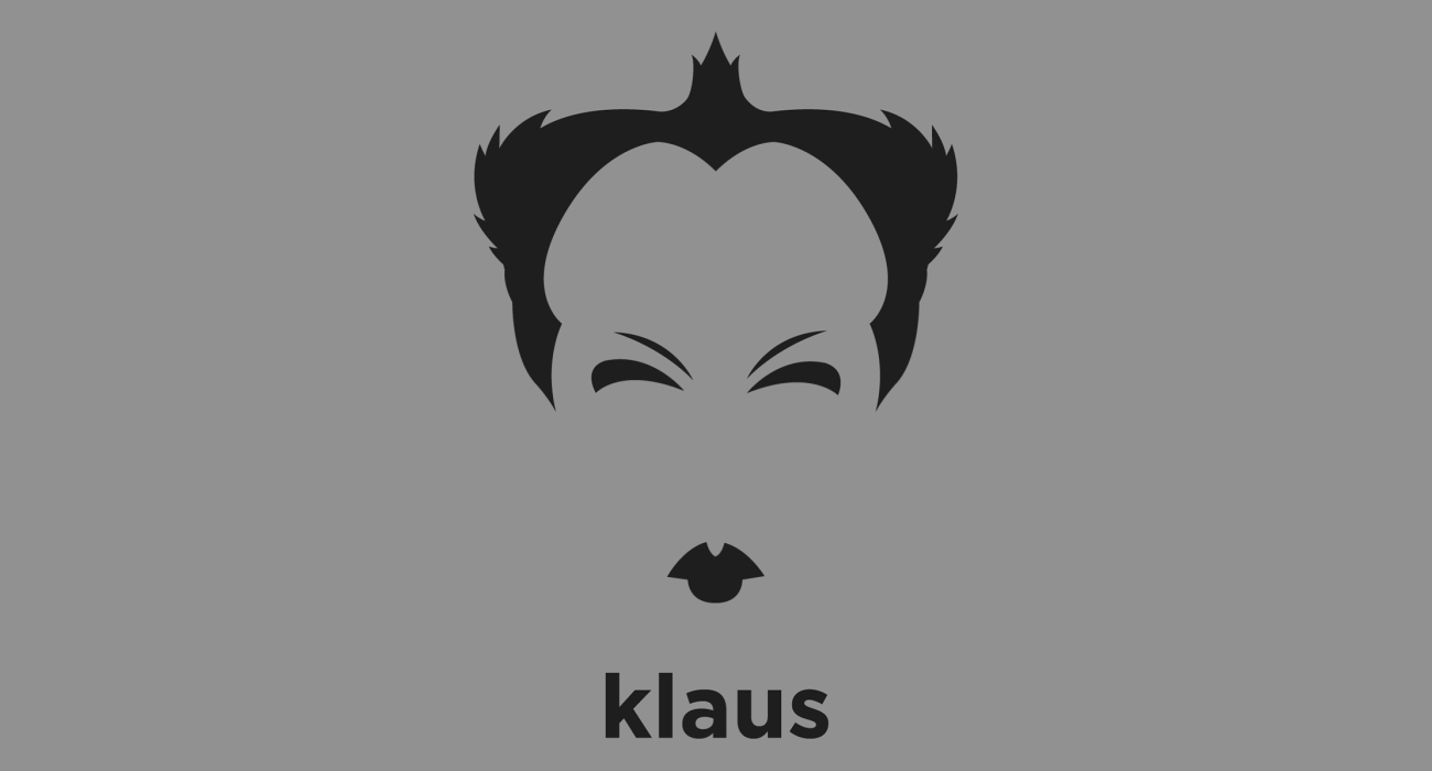 Klaus Nomi: German countertenor noted for his wide vocal range and an unusual, otherworldly stage persona, and his bizarrely visionary theatrical live performances
