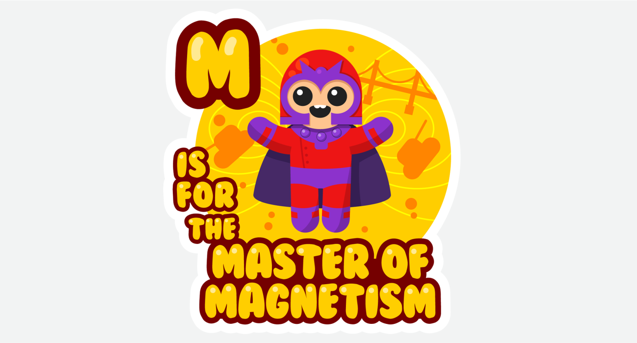 Magneto, the cutest lil' master of magnetism playing catch with some of his favorite toys!
