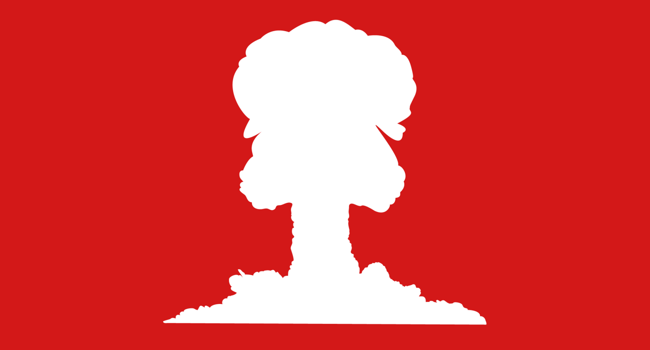 Pretty much what the title says: a mushroom cloud